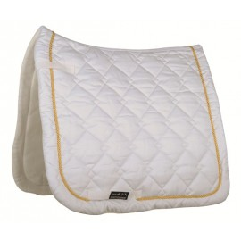 Tapis de selle Gently coupe dressage blanc/doré