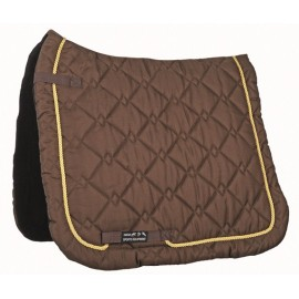 Tapis de selle Gently coupe dressage marron/doré
