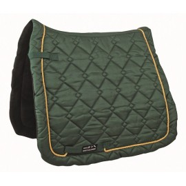 Tapis de selle Gently coupe dressage vert/doré