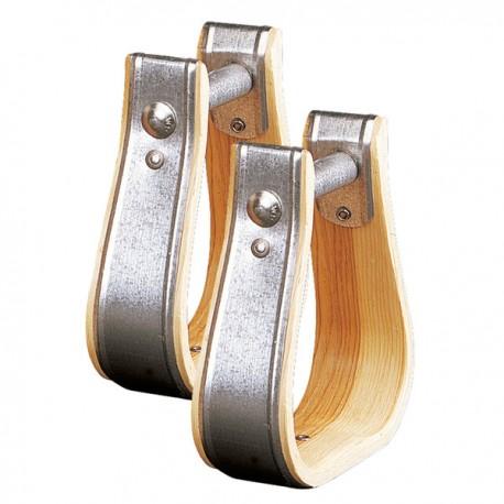 Etriers western en bois et métal Weaver Leather