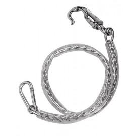 Longe chaîne gainée de plastique pour chevaux