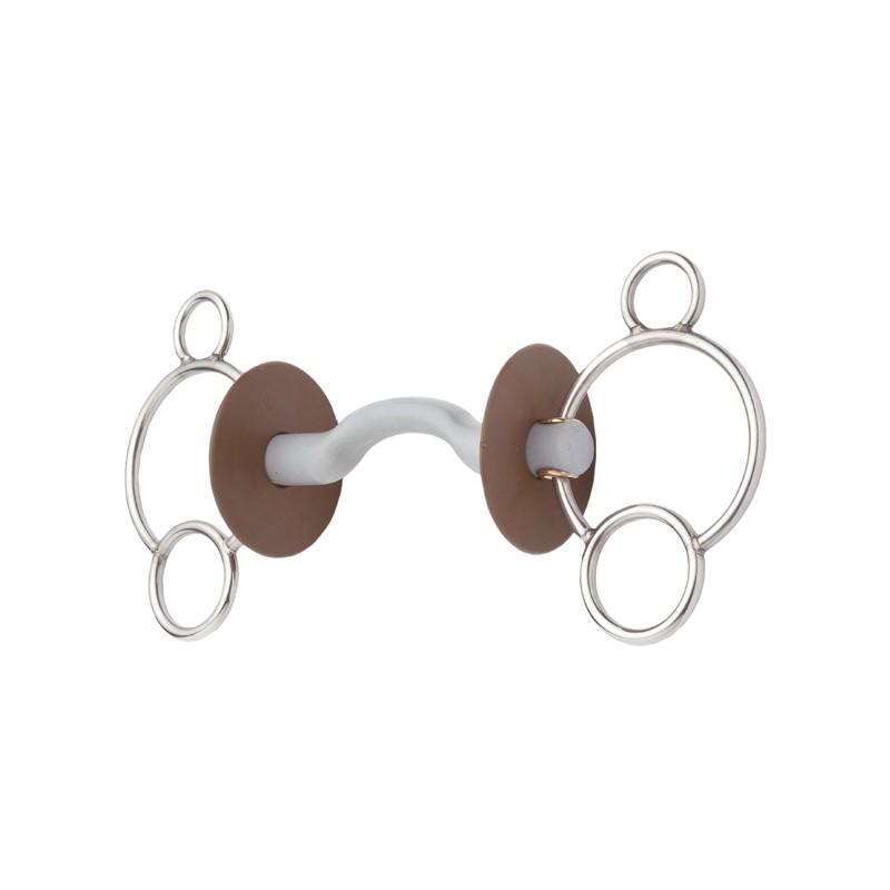 Mors 3 anneaux à passage de langue Beris
