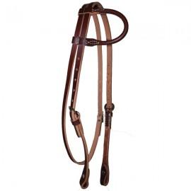 Bridon western en cuir 1 oreille Weaver Leather