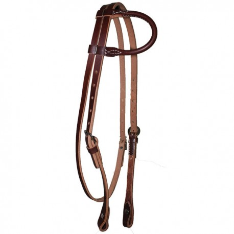 Bridon western en cuir 1 oreille Weaver Leather