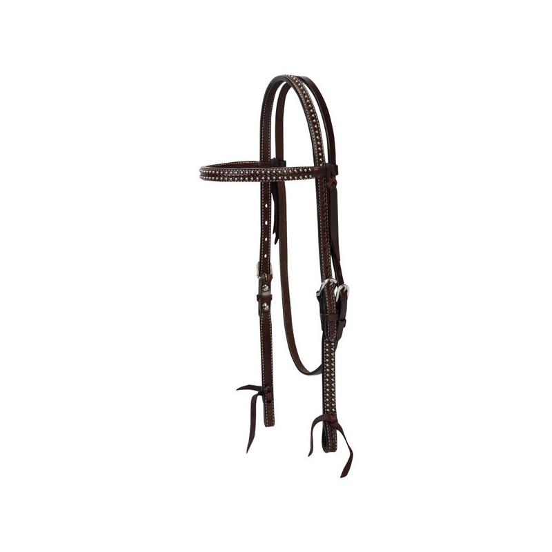 Bridon western Basketweave Tooled en cuir huilé Weaver Leather
