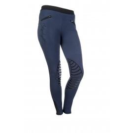 Leggings Starlight avec basanes en silicone bleu foncé/noir