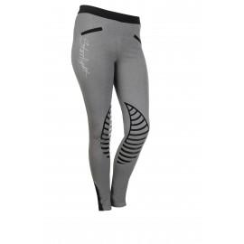 Leggings Starlight avec basanes en silicone gris clair/noir