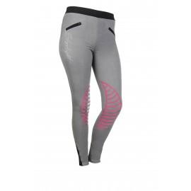 Leggings Starlight avec basanes en silicone gris clair/rose bonbon