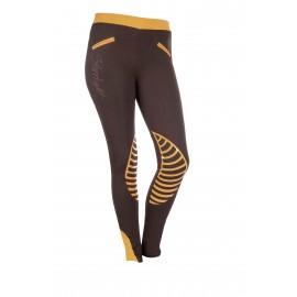 Leggings Starlight avec basanes en silicone marron/orange