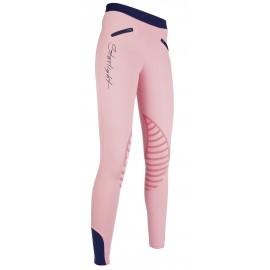 Leggings Starlight avec basanes en silicone rose/bleu foncé