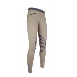 Leggings Starlight avec basanes en silicone sable/gris foncé