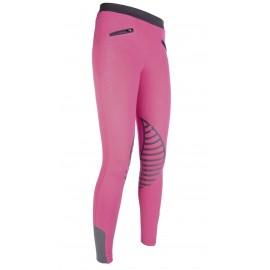 Leggings Starlight avec basanes en silicone rose/gris