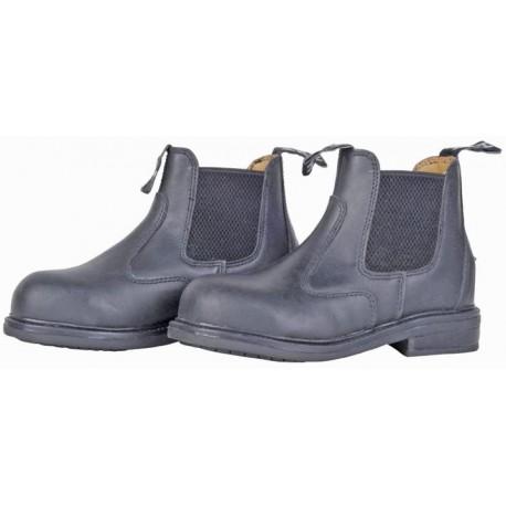 Boots coquées en cuir pour homme