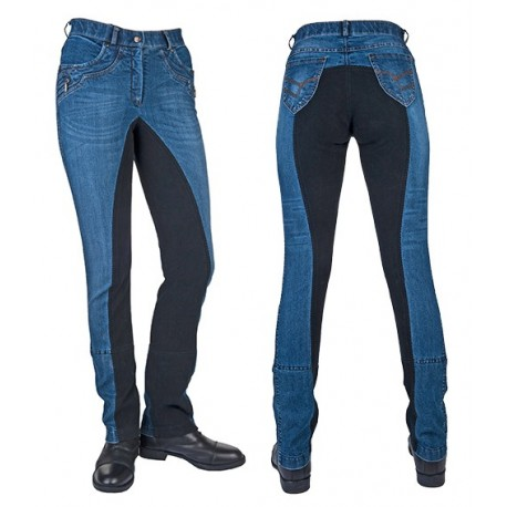 Pantalon d'équitation jeans jodhpur Classic fond peau