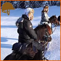 cavaliers équipés pour l'hiver